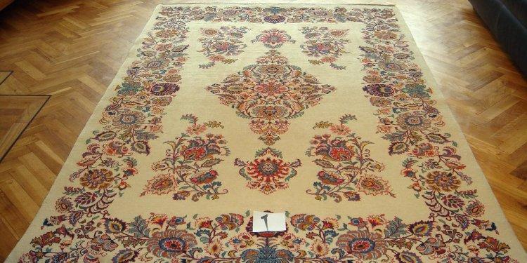 5 6 Kashan cream coloured Kurk wool Persian carpets 8