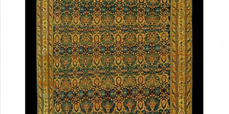Antique Persian Bijar Rug: One