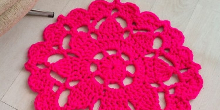 Crochet Floor Rug Pattern 19