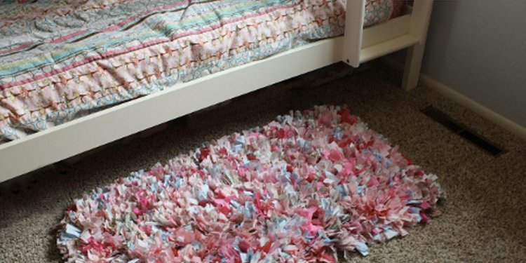 Easy No Sew Shag Rag Rug