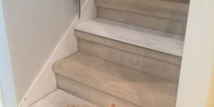 From Carpet to Wood Stairs