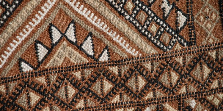 Gorgeous Tan Hand knotted handknit Afghan Kilim Oriental Geometric Flat Weave Area Rug (26