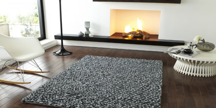 Grey Quality Hand Tufted Knotted Heavy Weight Shaggy Pile Rug