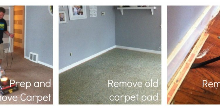 So, we removed the carpet tack