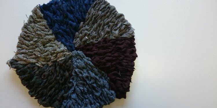 On A Loom Weaving Rag Rugs