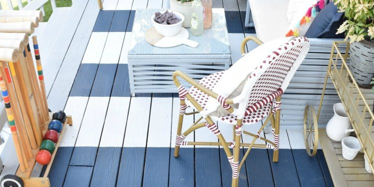 DIY painted rugs are a