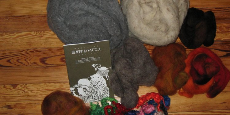 Wool from the Maryland Sheep and Wool festival