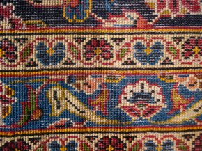 back of a Persian rug