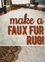 DIY faux fur rug! This really is so fabulous, simple and inexpensive!