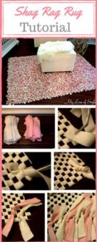 Easy detailed DIY Shag Rag Rug Tutorial