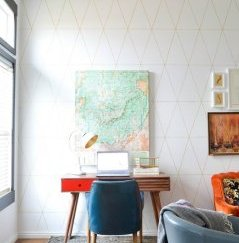 Geometric Wall family area Makeover @ Vintage Revivals