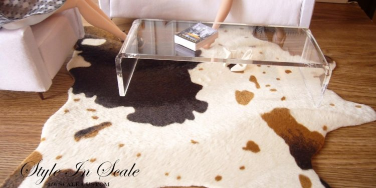 DIY Faux Cowhide Rugs