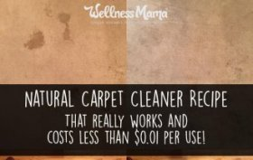 Natural Carpet Cleaner Recipe- that really works and costs one penny per use