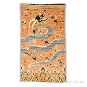 Pillar Carpet, west China, very early 19th century (good deal 92, Estimate: ,500-2,000)