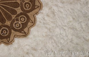 this might be wizard! Steps to make an imitation fur rug!