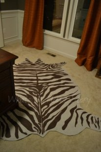 Whats Ur Home Story: faux zebra hide rug